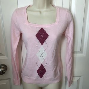 New York and company pink sweater size xxs